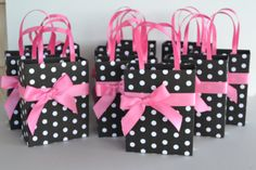 black and white party favor gift bag by steppnout on Etsy, $2.00