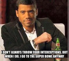 I don't always throw for interceptions