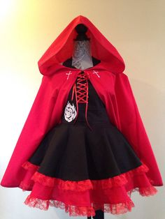 Ruby Rose Apron and Cape costume apron retro by AriaApparel