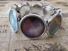 Current 7 day production time...Silver 'Nebula' Bracelet. 2 Designs available. £12.00, via Etsy.