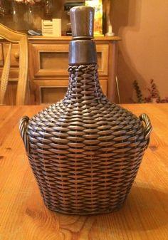 Sterling Silver Wicker Overlay Chianti Wine Bottle Antique Vintage OOAK Rare #Unknown