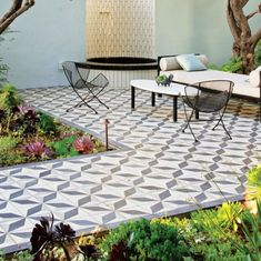 Dream Garden, Tiles, Flooring, Outdoor Decor, Inspiration, Garden Ideas, Gardens, Home Decor, Decor Ideas