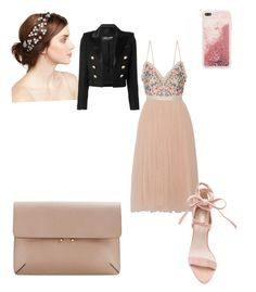 """Untitled #5"" by roxy-carter on Polyvore featuring Needle & Thread, MANGO, Jennifer Behr and Balmain"