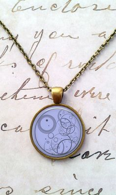 Doctor Who Necklace, Dr Who, Spacey Wacey, Timey Wimey, Gallifreyan T313 WANT