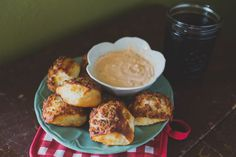 bacon pretzels with beer cheese dip.   indiejane photography