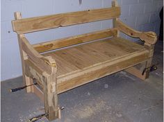 bench construction - frame and seat finished