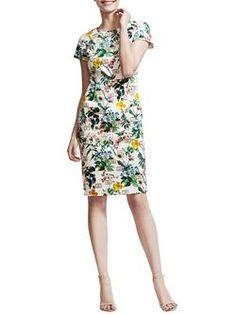 botanical sketch dress - Google Search