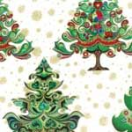 Hoffman Celebration Christmas Trees Evergreen Gold