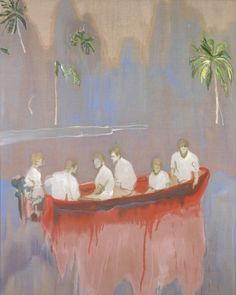 Peter Doig - Figures in red boat