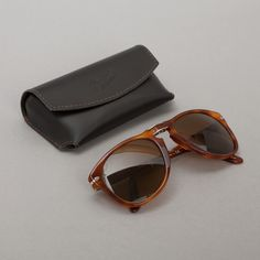 Persol Havana Folding Sunglasses