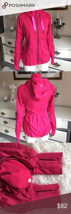 Lululemon jacket size 4 In excellent Used Condition flaws pictured on picture 4 thread is running on the cuff. lululemon athletica Jackets & Coats
