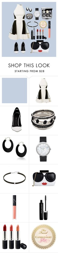 """""""Panda Formal"""" by chocolatepiggy99 ❤ liked on Polyvore featuring David Koma, Greymer, Bling Jewelry, Elwood, Alice + Olivia, NARS Cosmetics, Marc Jacobs and Terre Mère"""