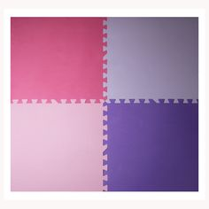 Pink and Purple X Anti-Fatigue Interlocking Mats pack) Interlocking Mats, Basement Flooring, Purple, Pink, Card Holder, Floor Mats, Products, Rolodex, Pink Hair