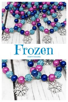 Frozen party favors Frozen beaded bracelet are the perfect for a Frozen birthday party, Snowflake party, Princess Elsa party or just a nice gift for your loved ones or even for yourself. Details: ❤ Materials of the bracelet: ✮ Beads: Frozen Party Favors, Frozen Themed Birthday Party, Disney Frozen Birthday, Frozen Gift Ideas, Frozen Birthday Favors, Disney Frozen Crafts, Elsa Birthday Party, Carnival Birthday Parties, Birthday Party Themes