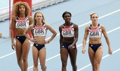Asha PHILIP, Bianca WILLIAMS, Jodie WILLIAMS and Ashleigh NELSON [Bronze]. [Women's 4 x 100m relay]  England