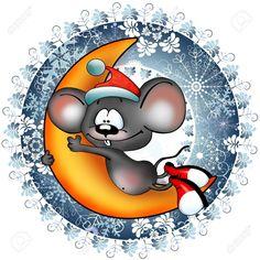 Круглые новогодние картинки: 200 штук для вашего творчества | Азбука декупажа Christmas Animals, Christmas Cats, Kids Jewelry Box, Monkey Doll, Mouse Crafts, Cute Rats, Easter Egg Crafts, Hamster, Atc Cards