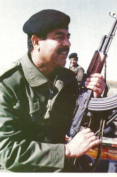 Iraqi Leader Saddam Hussein, in better days.......