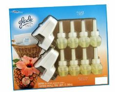 Glade Plugins Scented Oils Combo Pack (Clean Linen $ Hawaiian Breeze by Glade. $22.99. Four of Each fragrance Include per pack for a total of eight bottles. Two Plugin Warmers Included. Warmers Can Be rotate for  Accommodation of most electrical Outlets. Glade scented oil warmers provide lasting fragrance that can make even larger rooms more inviting. Just insert the warmer unit upright into an outlet, adjust the fragrance level and enjoy the perfect amount of fragrance. You wil...