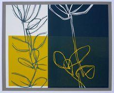 Linocut Plant Drawing - Bridget Jones