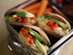 Veggie Pita Pockets(on the go lunches)