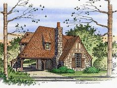 pictures of english tudor cottages | storybook cottage house plans