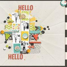 Papercrafting ideas: scrapbook layout idea. #papercraft #scrapbooking #layouts using photo strips