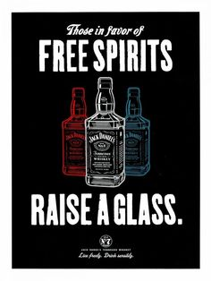 Jack Daniels Whiskey Rais e a Glass Advertising Campaign