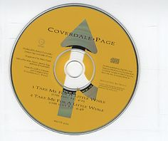 """For Sale - Coverdale Page Take Me For A While - Chr Edits USA Promo  CD single (CD5 / 5"""") - See this and 250,000 other rare & vintage vinyl records, singles, LPs & CDs at http://eil.com"""