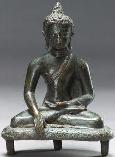 9th-10th century, Nepal, buddha Shakyamuni, Thakuri period, bronze, at the Ashmolean Museum (UK)