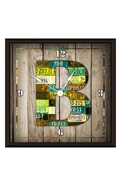 Green Leaf Art 'Wood Art' Clock available at #Nordstrom
