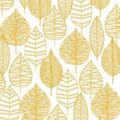 Bark & Branch - Line Leaf in Gold