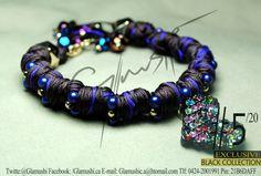 NEW COLLECTION 2012 -  Glamushi BLACK (EXCLUSIVE) Material: GoldField Color: Marron & Morado  Dije Central: Corazón Swarovsky (Arcoiris) Swarovski : Morado