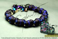 NEW COLLECTION 2012 -  Glamushi BLACK (EXCLUSIVE) Material: GoldField Color: Marron & Morado  Dije Central: Corazón Swarovsky (Arcoiris) Swarovski : Morado
