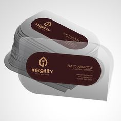 #Transparent #Plastic #DieCut #BusinessCards from @inkgility... Send us an email at sales@inkgility.com to get yours now.