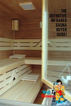 The Definitive Infrared Sauna Buyer Guide! Best Infrared Sauna, Saunas, Home Remodeling, Shower, Rain Shower Heads, Steam Room, Showers, House Remodeling, Home Repair