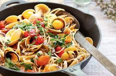 SPAGHETTI COOKED RISOTTO-STYLE WITH VONGOLE AND ROASTED CHERRY TOMATOES http://www.delicious.com.au/recipes/spaghetti-cooked-risotto-style-vongole-roasted-cherry-tomatoes/a8f199ba-0a53-4d12-8bc2-8fa9f8df7349?current_section=recipes&adkit_ref=/recipes/collections/every-silvia-colloca-recipe-youll-ever-need/f9d260cf-d0e2-4a9f-87fa-0f50b7b7c171