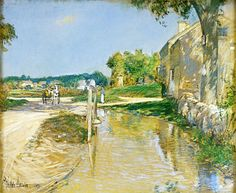 Posilippo - Childe Hassam - Country Road,1891-