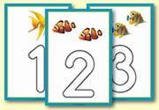 Fish Themed Playdough Mat 0-10