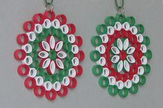 Ornaments in der Kunst der quilling Barbaras Beautys Neli Quilling, Quilling Jewelry, Quilling Paper Craft, Paper Crafts, Paper Quilling For Beginners, Quilling Techniques, Quilling Patterns, Quilling Designs, Christmas Projects