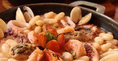 Feijoada Australiana - Receitas - My Restaurant Pasta Salad, Seafood, Restaurant, Fish, Chicken, Meat, Ethnic Recipes, Easter, Easter Lunch