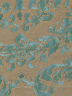 We love our vintage Fortunys like this Carnavalet print in peacock & silvery gold. Browse the newly introduced Discontinued collection to find your favorites! http://fortuny.com/Fabrics.aspx