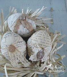 vintage/shabby chic easter eggs