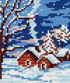 домики схема вышивки: 21 тыс изображений найдено в Яндекс.Картинках Cross Stitch House, Xmas Cross Stitch, Cross Stitch Christmas Ornaments, Cross Stitch Art, Simple Cross Stitch, Christmas Cross, Cross Stitch Embroidery, Embroidery Patterns, Easy Cross Stitch Patterns