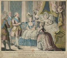 Birth of Louis-Xavier-François, Dauphin of France Son of Louis XVI and Marie Antoinette 1781 Versailles, Madame Du Barry, Louis Xvi, Bourbon, Paul Delvaux, French Royalty, 18th Century Fashion, 17th Century, Ancient Art