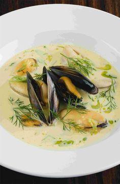 Mussel, saffron and fennel soup