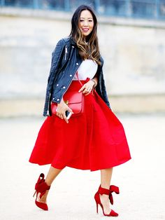The Best Blogger Fashion Week Outfits Ever via @WhoWhatWear