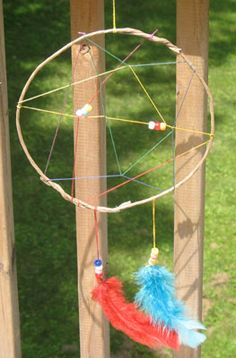 Rainbow Dream Catcher: Summer Camp Crafts and Lessons for Kids: KinderArt ®
