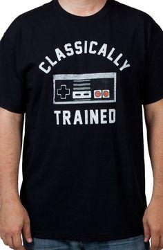 Classically Trained NES Controller Shirt: Nintendo Mens T-shirt