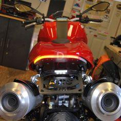 Ducati Monster 1100 696 796 Tail Tidy Fender Eliminator NRC integrates the Indicators and brake light in a neat CNC LED super bright discreet turn signals. Ducati Monster 695, Monster 696, Ducati 796, Cnc, Monsters, Motorcycles, Garage, Bike, Bright