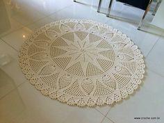 Tapete redondo com flor GIRASSOL | Croche.com.br                                                                                                                                                                                 Mais